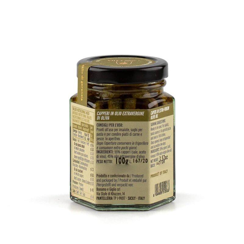 ingredienti capperi di pantelleria in olio extravergine di oliva