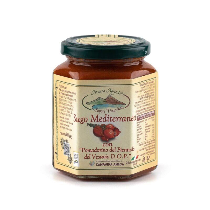sugo mediterranea con pomodorini del piennolo del vesuvio