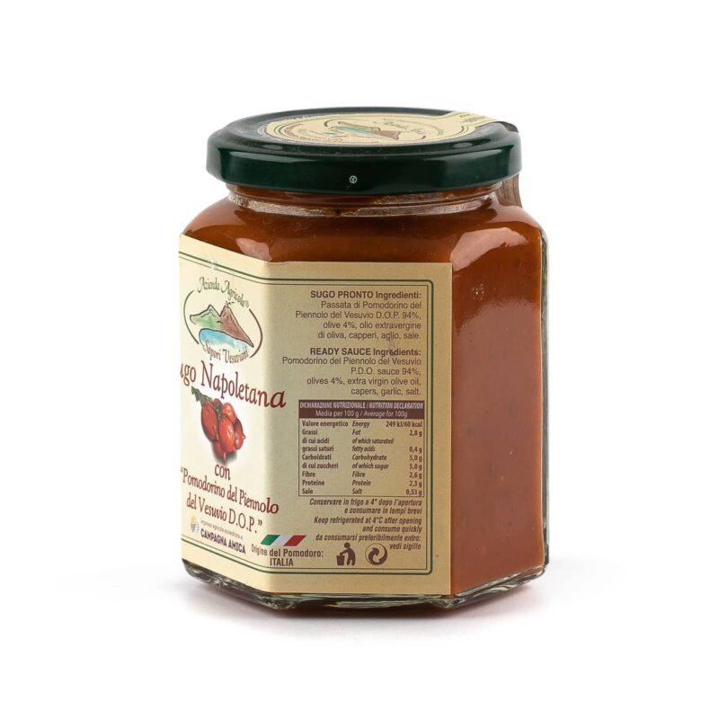 etichetta sinistra sugo napoletana di pomodorini del piennolo del vesuvio