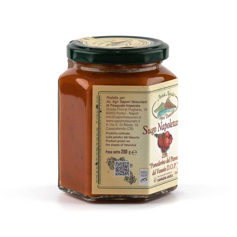 etichetta destra sugo napoletana di pomodorini del piennolo del vesuvio