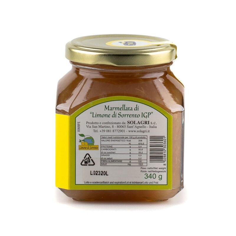 ingredienti marmellata limoni di sorrento igp
