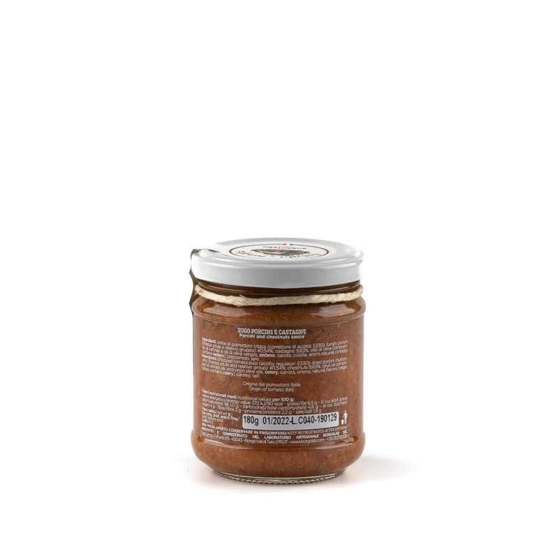 Sugo Funghi Porcini e Castagne