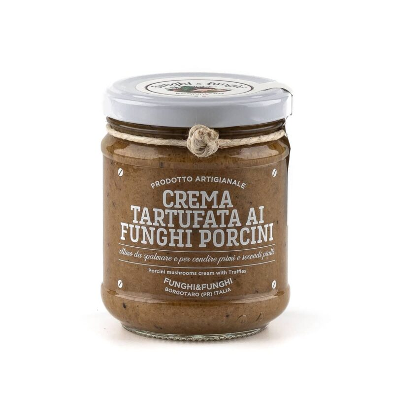 crema tartufata ai funghi porcini igp di borgotaro