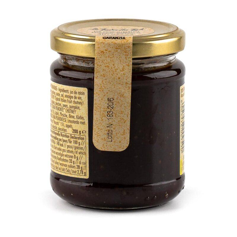 dettagli barattolo cognà, salsa tipica piemontese
