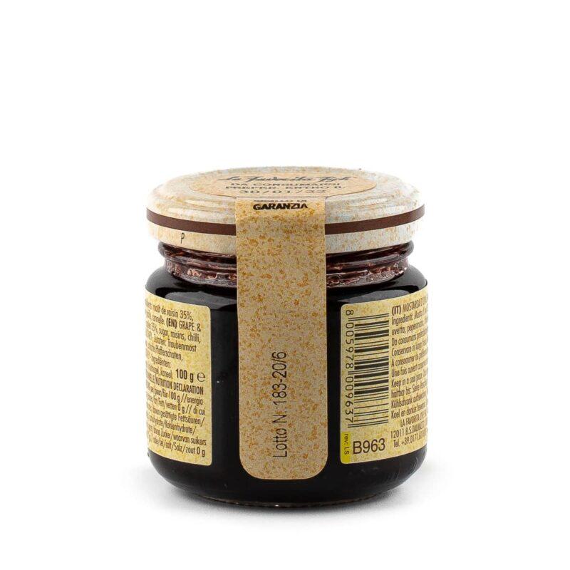 informazioni barattolo di mostarda preparata con uva e mele