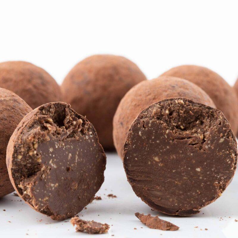 Macro Tartufi cioccolato e caffè