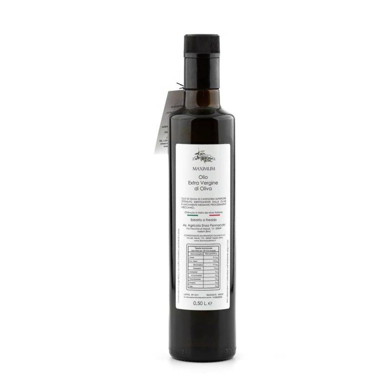 Informazioni bottiglia olio extravergine di oliva Maximum