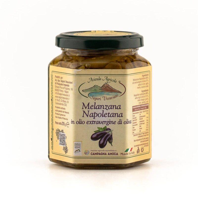 Barattolo di melanzana napoletana violacea del vesuvio