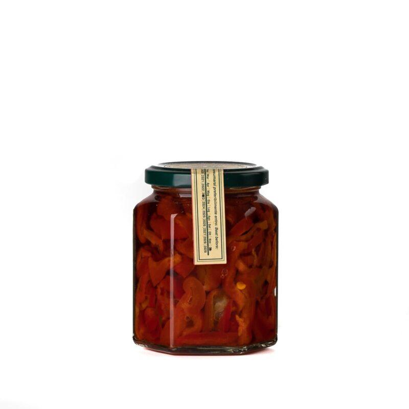 Peperoni cornetto del vesuvio sott'olio back
