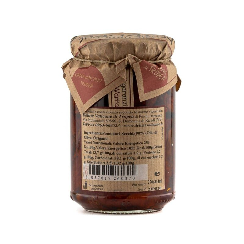 Informazioni vasetto di pomodori secchi calabresi sott'olio