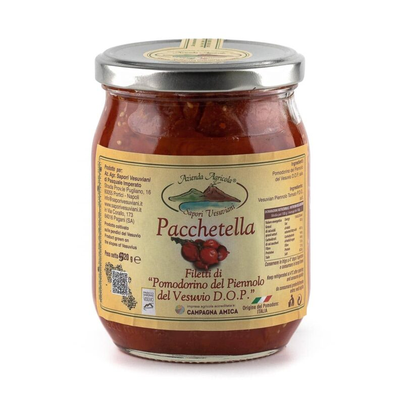 Pomodorini del piennolo del Vesuvio a Pacchetella