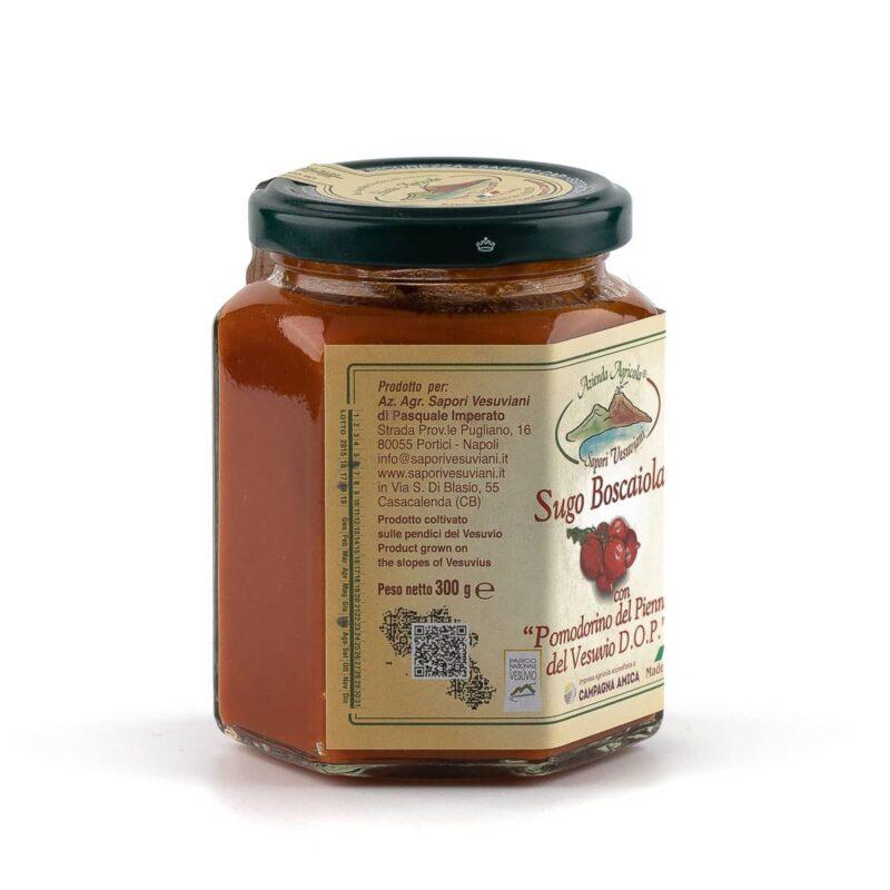 Sugo alla boscaiola, con pomodorini del piennolo del Vesuvio DOP
